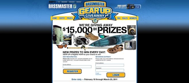 Bassmaster Gear Up Giveaway