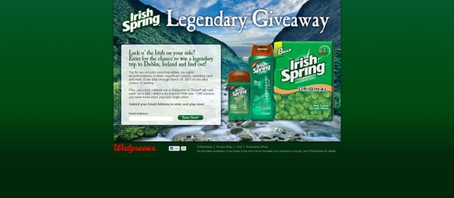 Irish Spring Legendary Giveaway