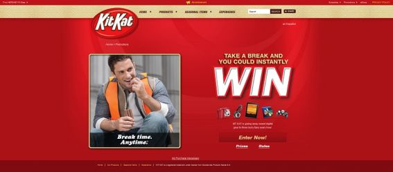 kitkatusa.com – KIT KAT Break Time, Anytime Instant-Win Game