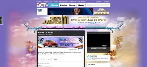 BET Awards Ford Focus Sweepstakes
