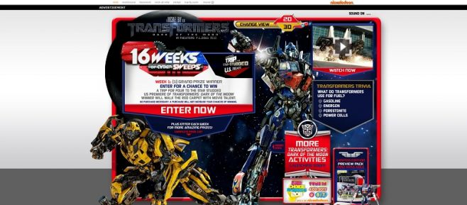 transformerscybersweeps.com – 16 Weeks of Cyber Sweepstakes