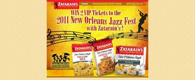 Zatarain's Jazz Fest Sweepstakes