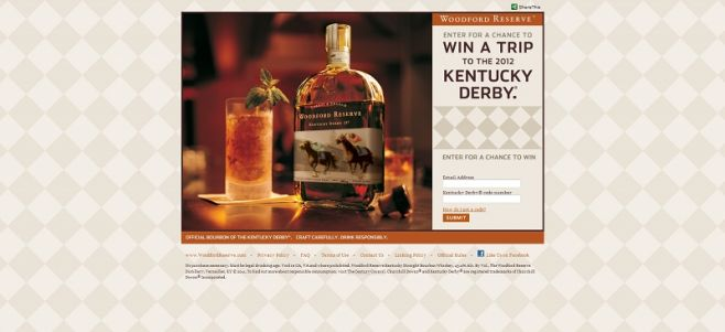 wellcraftedderby.com – Woodford Reserve Derby Consumer Sweepstakes