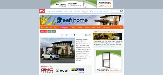 hgtv green home 2011 giveaway sweepstakes sweepstakes lovers - Home And Garden Home Giveaway
