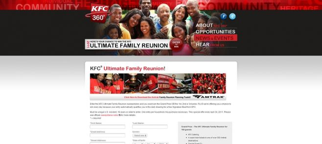 KFC Ultimate Family Reunion Sweepstakes