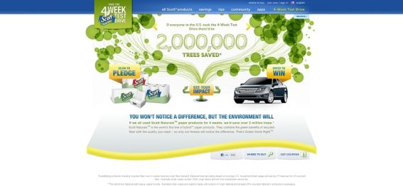 Scott Naturals Take the 4-Week Test Drive Sweepstakes