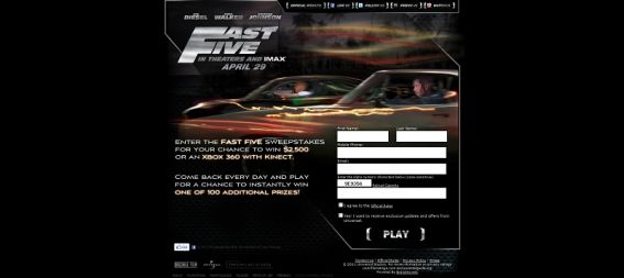 Fast Five Instant Win Sweepstakes