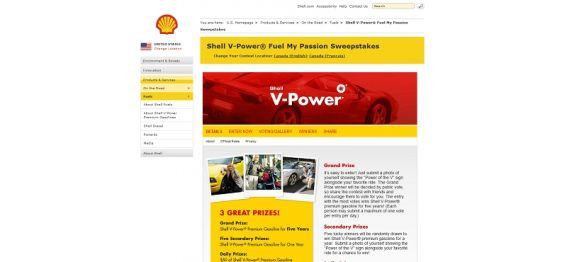 Shell V-Power Fuel My Passion Sweepstakes