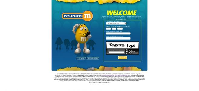 reunitemprize.com – M&M'S Reunite'm Instant Win Game and Sweepstakes