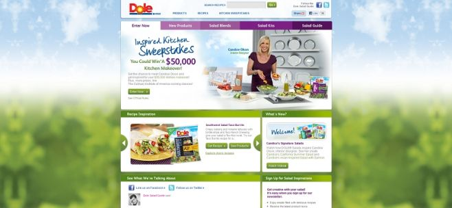 salads.dole.com – Dole Inspired Kitchen Sweepstakes