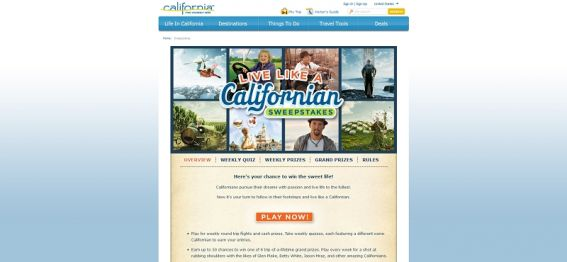 Live Like A Californian Sweepstakes
