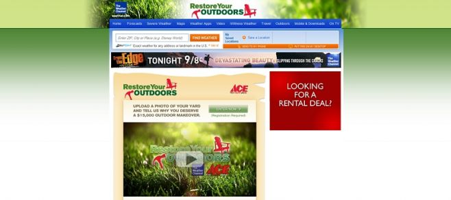 Weather Channel RESTORE YOUR OUTDOORS Contest