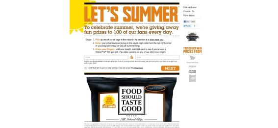 letssummer.com – Food Should Taste Good Let's Summer Instant Win Game