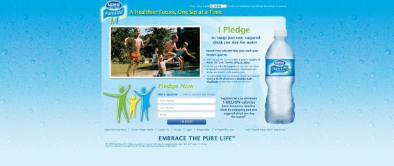 Nestlé Pure Life Pledge: Win Free Water For A Year Sweepstakes