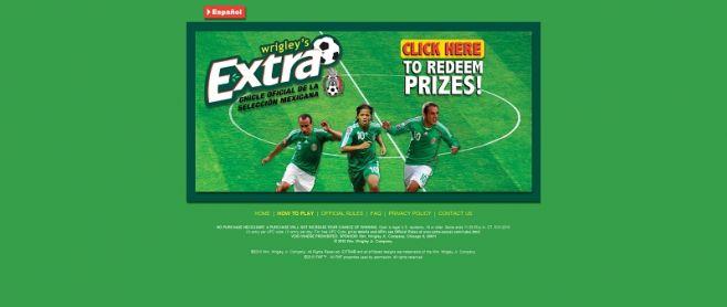 extra-soccer.com – Wrigley EXTRA FUTBOL Instant Win Game