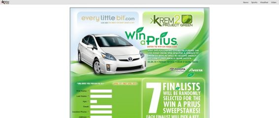KREM 2 News Win A Prius Sweepstakes