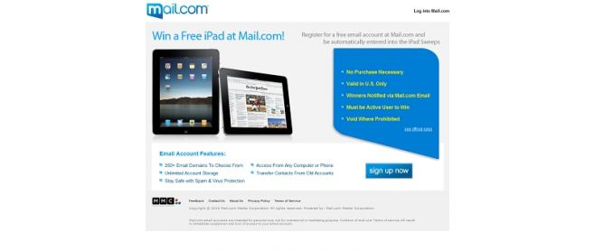 Mail.com Sweepstakes