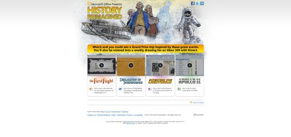 Microsoft Office Documents in History Sweepstakes