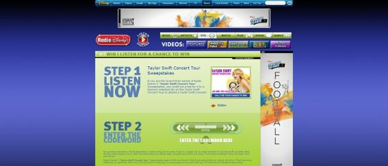 Radio Disney's Taylor Swift Concert Tour Sweepstakes