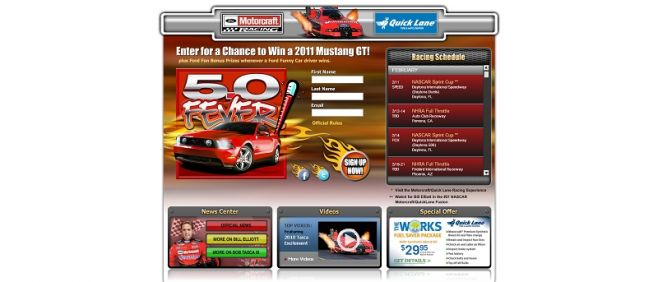 Motorcraft Quick Lane Mustang 5.0 Fever Sweepstakes