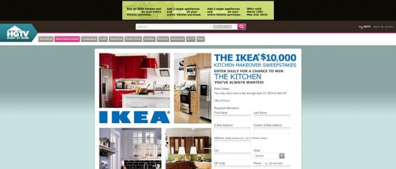 IKEA $10,000 Kitchen Makeover Sweepstakes