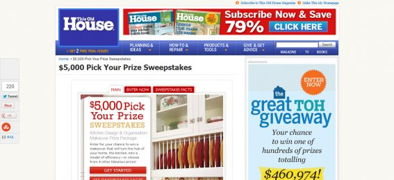$5,000 Pick Your Prize Sweepstakes