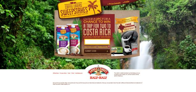 CoffeeLoversTrip.com – LAND O LAKES Coffee Lovers Sweepstakes