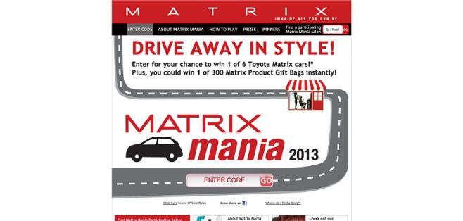 matrixmania2013.com – Matrix Mania Sweepstakes