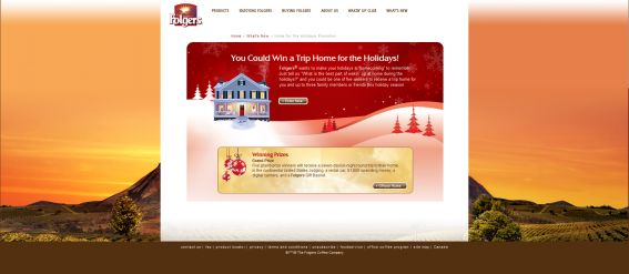 Folgers Home for the Holidays Contest