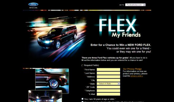Ford Flex My Friends Sweepstakes