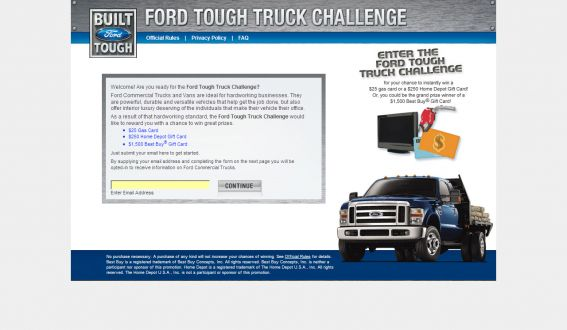 Ford Tough Truck Sweepstakes