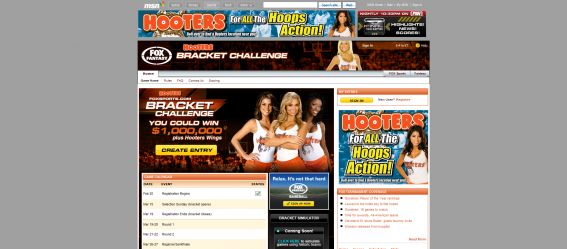 Hooters FOXSports.com on MSN Bracket Challenge