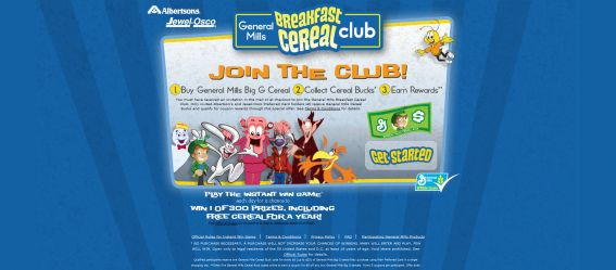 General Mills Breakfast Cereal Club Instant Win Game