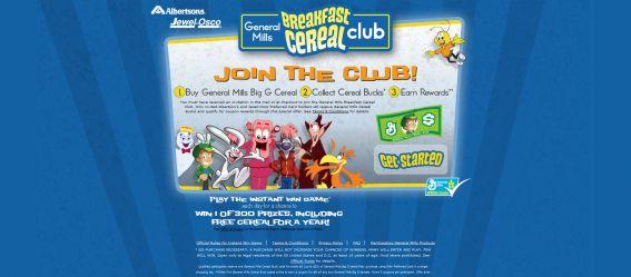 General Mills Breakfast Cereal Club Instant Win Game