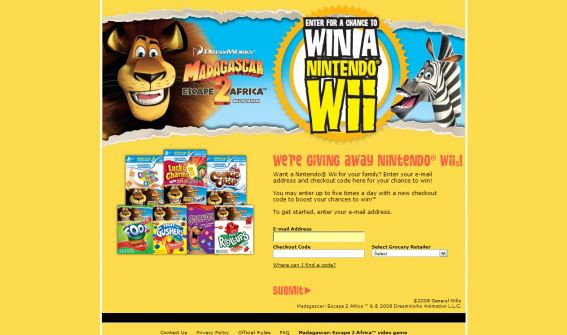 General Mills Win a Wii Sweepstakes