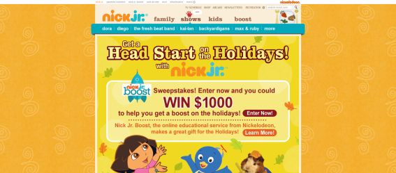 Nick Jr. Boost Sweepstakes
