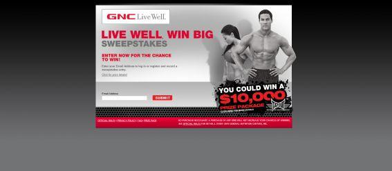 Live Well Win Big Sweepstakes