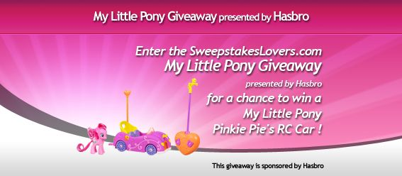 SweepstakesLovers.com My Little Pony Giveaway presented by Hasbro