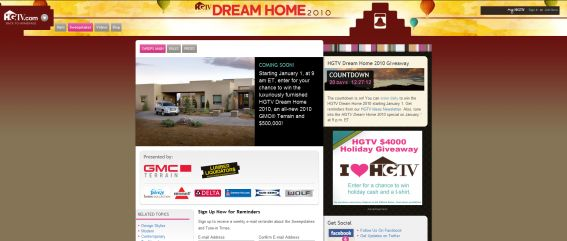 HGTV Dream Home Giveaway 2010