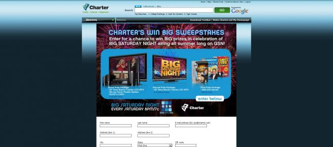 Charter Win Big Sweepstakes