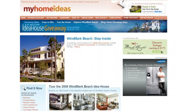 MyHomeIdeas.com Idea House Giveaway Sweepstakes