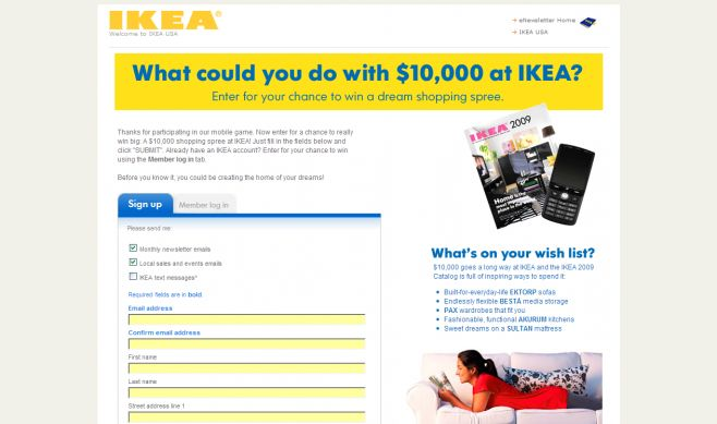 The IKEA Find It Instant Win Game and Sweepstakes