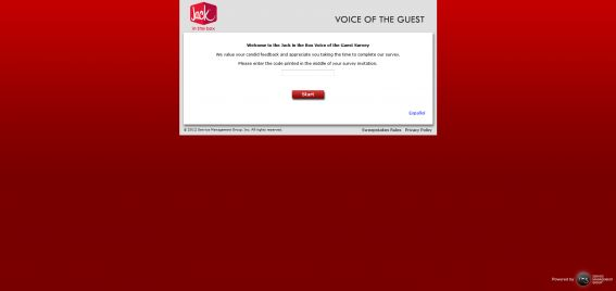 talktojackinthebox.com &#8211; Jack in the Box Voice of the Guest Survey Sweepstakes