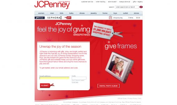 JCPenney Feel the Joy of Giving Sweepstakes