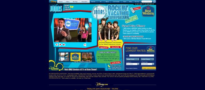 Disney Best Western Jonas Rockin' Vacation Sweepstakes