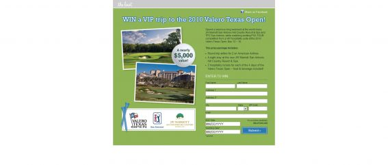 Valero Texas Open Sweepstakes