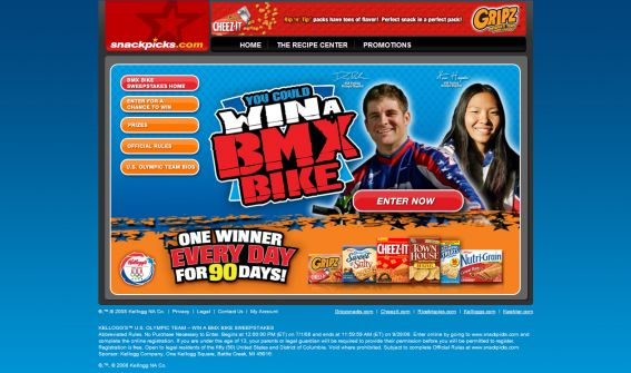 The Kellogg&#8217;s U.S. Olympic Team &#8211; Win a BMX Bike Sweepstakes