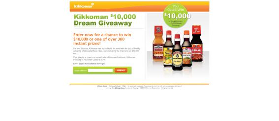 Kikkoman $10,000 Dream Giveaway