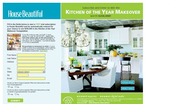 Kitchen of the Year Makeover Sweepstakes