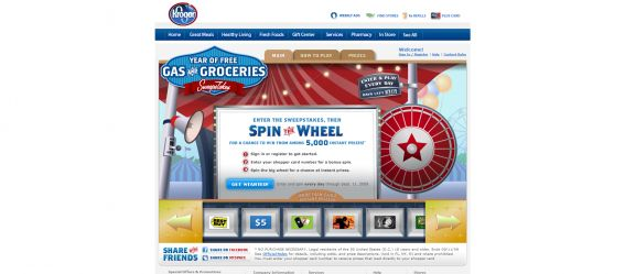 Kroger Year of Free Gas & Groceries Sweepstakes